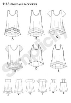1113 Simplicity Pattern: Misses' Easy-to-Sew Knit Tops